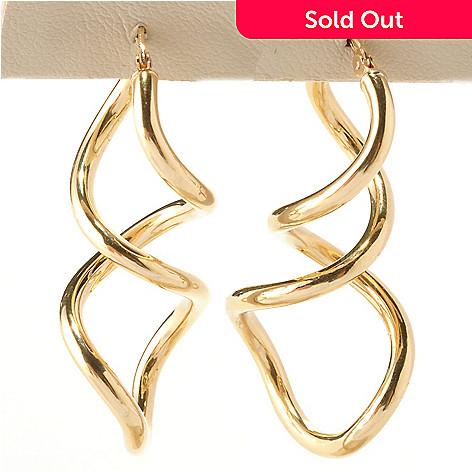 125-077 - Viale18K® Italian Gold Twisted ''Lanterna'' Earrings