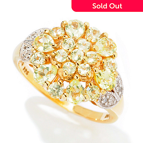 125-142 - NYC II® 1.56ctw Chrysoberyl & Diamond Flower Ring
