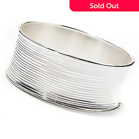 125-245 - SempreSilver® Diamond Cut & Satin Finished Bangle Bracelet