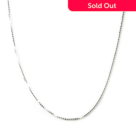 125-252 - SempreSilver® 36'' Adjustable Box Chain Necklace, 8.8 grams