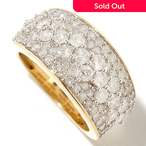 125-271 - Diamond Treasures® 14K Gold 2.00ctw Multi Size Diamond Band Ring