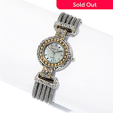125-401 - Artisan Silver by Samuel B. Multi Strand Bracelet Watch