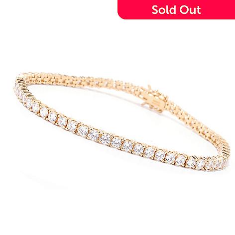125-448 - Brilliante® Round Cut Prong Set Simulated Diamond Tennis Bracelet
