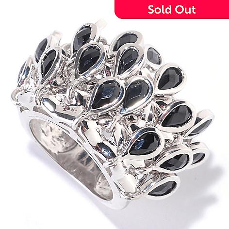 125-454 - Kristen Amato 5.29ctw Black Spinel Fringe Ring