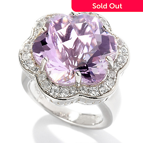 125-511 - Color by Design 10.00ctw Amethyst & White Sapphire Flower Ring