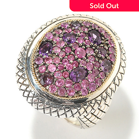 125-537 - Sterling Artistry by Effy 2.51ctw Pink Sapphire & Amethyst Ring
