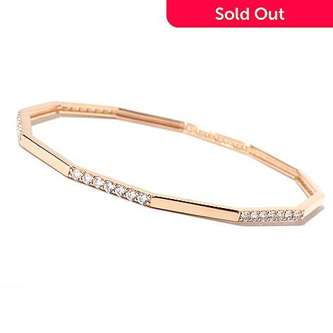 125-562 - Sonia Bitton Round Cut Fancy Shaped Simulated Diamond Bangle Bracelet