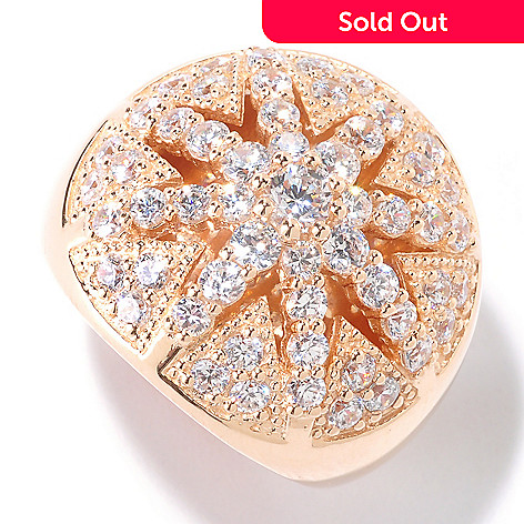 125-565 - Sonia Bitton for Brilliante® Gold Embraced™ 1.89 DEW Round Cut Starburst Ring