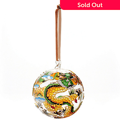 125-601 - Hand-Painted Cloisonn&eaccute; Glass Ball Collectible