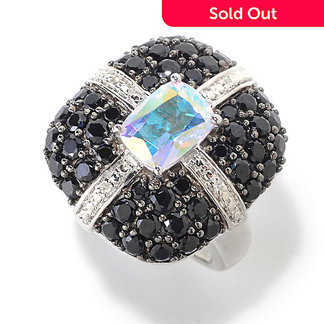 125-613 - NYC II™ Exotic Topaz, Black Spinel & White Zircon Ring