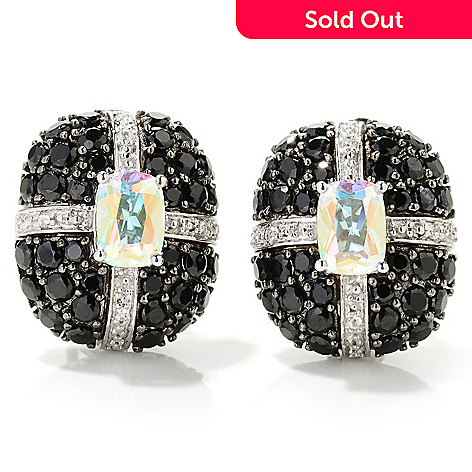 125-637 - NYC II™ Exotic Topaz, Black Spinel & White Zircon Earrings