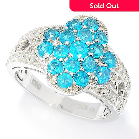 125-639 - NYC II™ 1.44ctw Neon Apatite & White Zircon Ring
