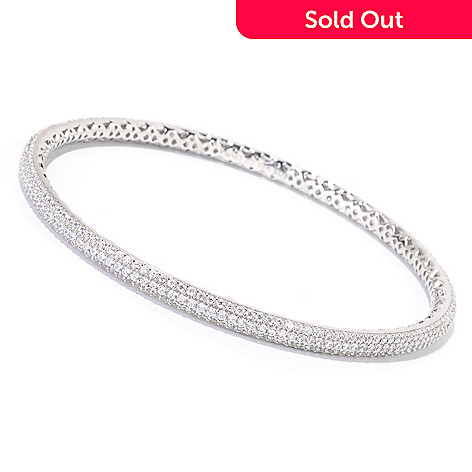125-641 - Sonia Bitton for Brilliante® Platinum Embraced™ Pave Set Slip-on Bangle Bracelet