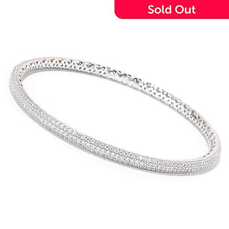 125-641 - Sonia Bitton for Brilliante® Platinum Embraced™ Pave Set Slip-on Bangle Bracelet