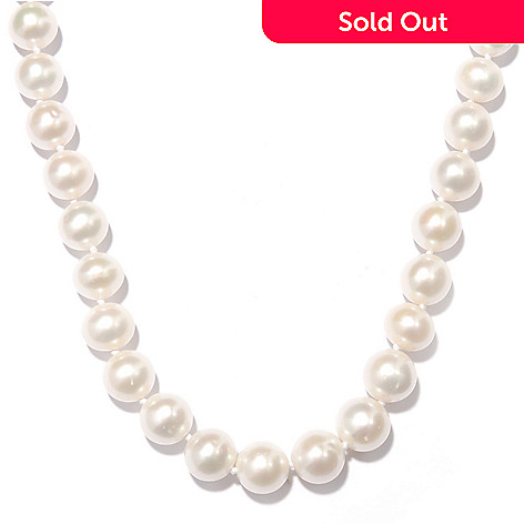 125-661 - 14K Gold 18'' 11-12mm Natural Colored Freshwater Cultured Pearl Necklace