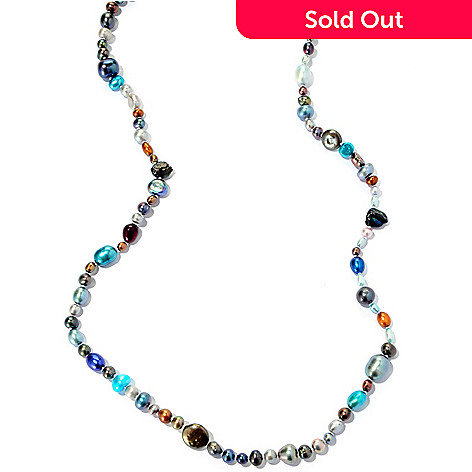 125-663 - 62'' 5-11mm Dyed Freshwater Cultured Pearl Endless Strand Necklace