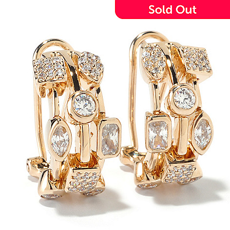 125-682 - Sonia Bitton for Brilliante® 2.41 DEW Multi-Shape Celebration Hoop Earrings