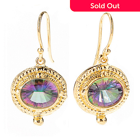 125-703 - Porsamo Bleu Fancy Cut Topaz Drop Earrings