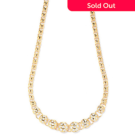 "125-742 - Sonia Bitton for Brilliante® 18"" 2.86 DEW Burnished Necklace"