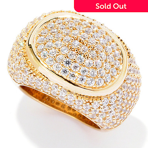 125-743 - Sonia Bitton for Brilliante® 3.12 DEW Pave Set Oval Shaped Domed Ring