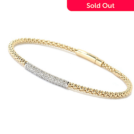 125-768 - EFFY 14K Yellow & White Gold 0.40ctw Diamond Bangle Bracelet