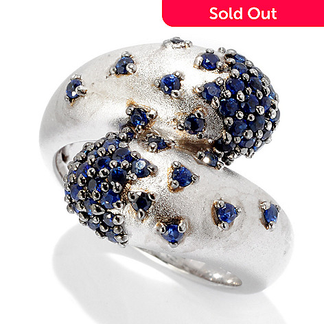 125-777 - Effy Sterling Silver 1.30ctw Blue Sapphire ''Balissima'' Bypass Ring