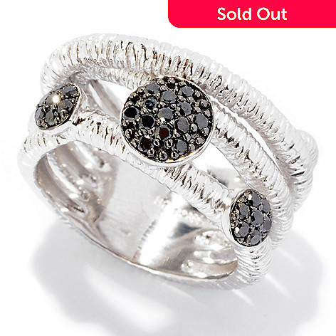 125-778 - Effy Sterling Silver 0.33ctw Black Diamond ''Balissima'' Ring