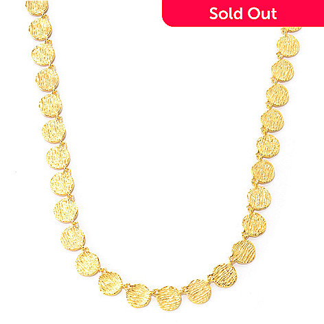 125-788 - Toscana Italiana Gold Embraced™ Textured Disk Link Necklace