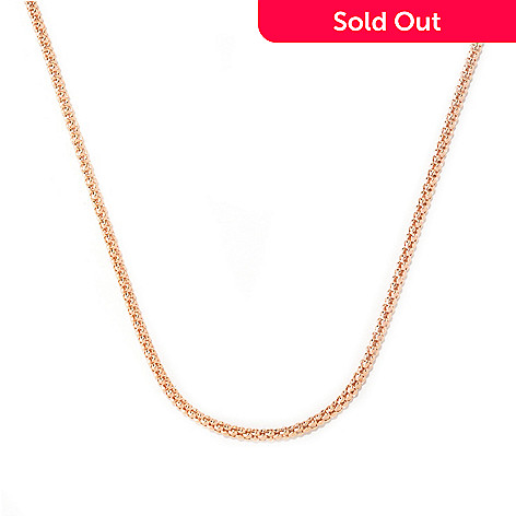 125-792 - Toscana Italiana 18K Gold Embraced™ 36'' High Polished Hammered Coreana Chain Necklace