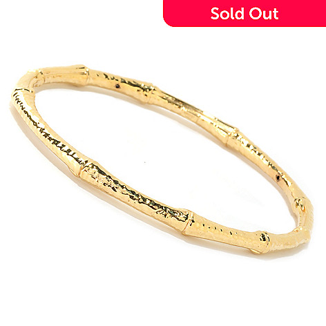 125-806 - Stefano Oro 14K ''Oro Vita'' Electroform Bangle Bracelet