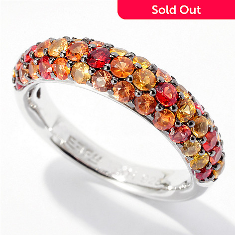 125-823 - Effy Sterling Silver Multicolor Sapphire ''Balissima'' Ring