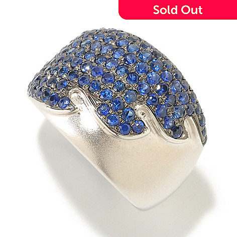 125-830 - EFFY Sterling Silver 2.40ctw Blue Sapphire Wave ''Balissima'' Ring