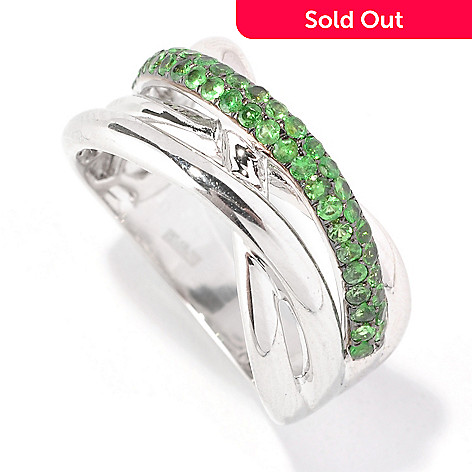 125-832 - Effy Sterling Silver Tsavorite Crossover Balissima Ring