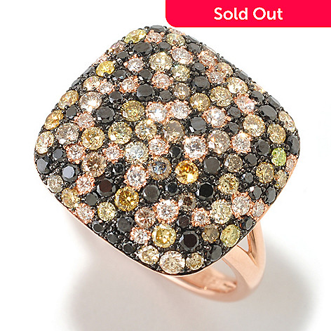 125-841 - EFFY 14K Rose Gold 1.50ctw Multicolor Diamond Confetti Ring