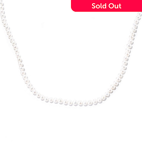 125-865 - 100'' 5-6mm White Potato Shaped Freshwater Cultured Pearl Endless Necklace