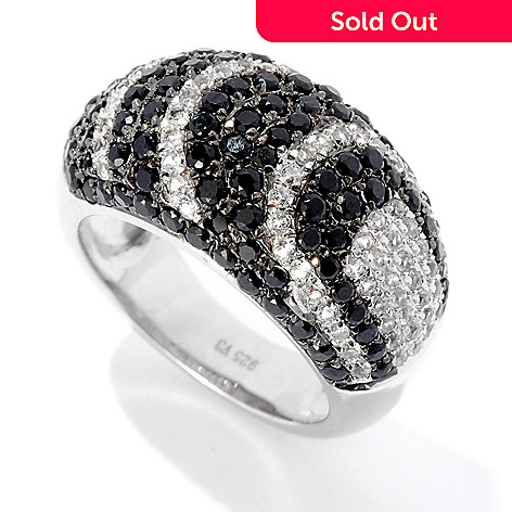 125-868 - Gem Treasures 2.17ctw Black Spinel & White Zircon ''Drama'' Ring