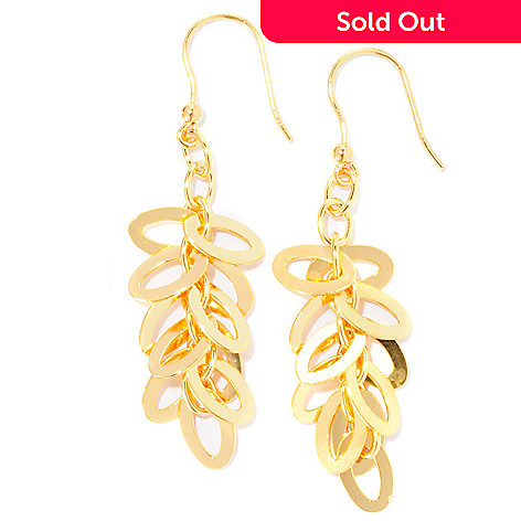 125-962 - Milano Luxe Gold Embraced™ Polished Cluster Drop Earrings