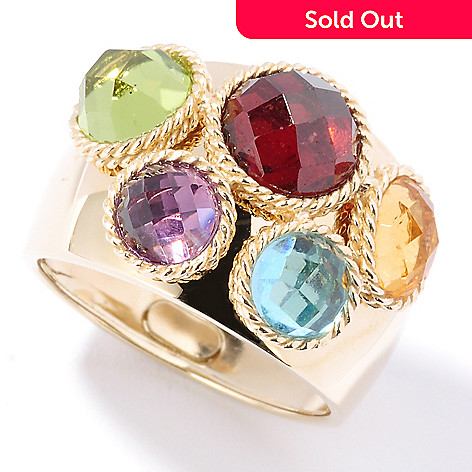 125-983 - SempreGold™ 14K 4.00ctw Multi Gem Wide Ring