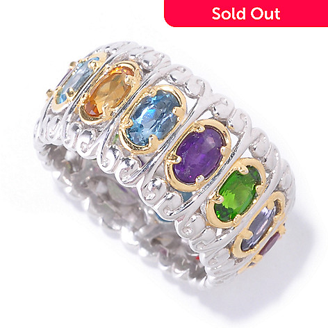 126-047 - Gems en Vogue Multi Gemstone ''Carousel'' Eternity Band Ring
