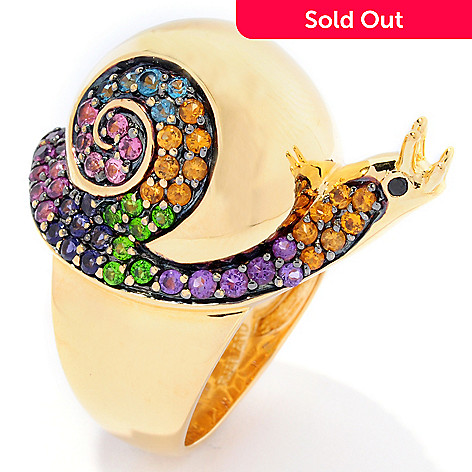 126-096 - NYC II™ 1.36ctw Multi Gemstone Swirl Snail Ring