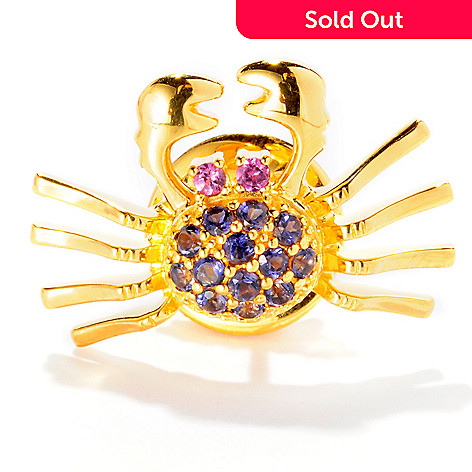 126-103 - NYC II™ Iolite & Rhodolite Crab Scatter Pin