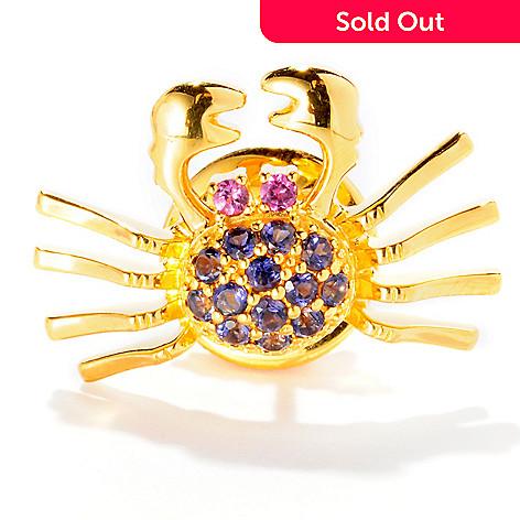 126-103 - NYC II Iolite & Rhodolite Crab Scatter Pin