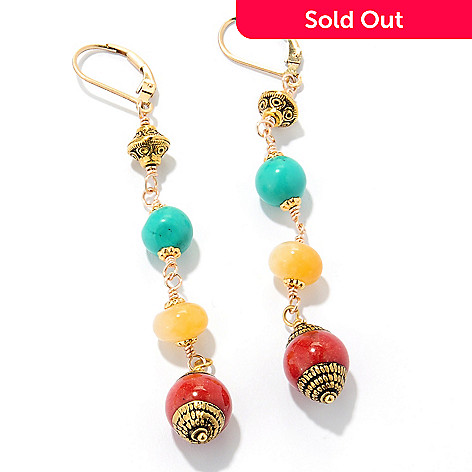 126-290 - mariechavez Gemstone Dangle Earrings