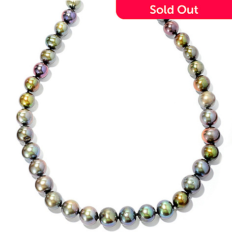 126-307 - Sterling Silver 18'' 9-12mm Dyed Freshwater Cultured Pearl Necklace