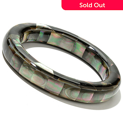 126-312 - 7.5'' Mother-of-Pearl Slip-On Bangle Bracelet