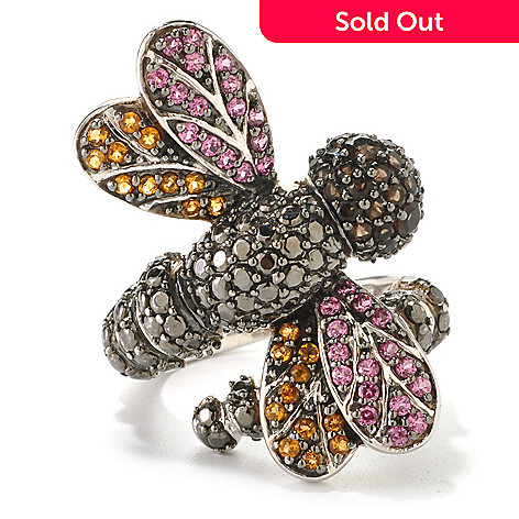 126-317 - NYC II 1.17ctw Multi Gemstone Wrap-Around Dragonfly Ring