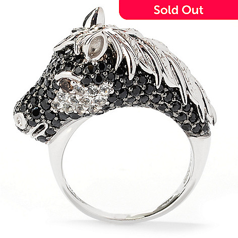 126-318 - NYC II® 2.80ctw Multi Gemstone Pave Set Black Stallion Ring