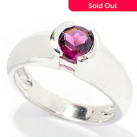 126-321 - Gem Insider® Sterling Silver Bezel Set Exotic Gemstone Round Ring