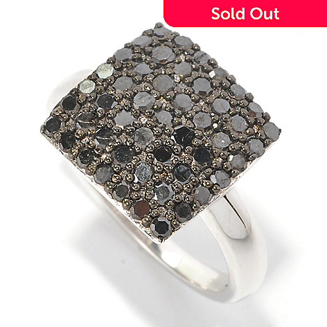 126-358 - Diamond Treasures® Sterling Silver 1.00ctw Diamond Square Ring
