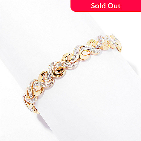 126-367 - Désoro™ Brilliante® Two-tone Round Cut Polished Braided Bracelet